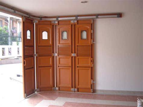 pintu besi grant pusat pintu dorong lipat dan pemasangan