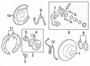 Toyota Camry Backing Plate  Brake Dust Shield  Parking Brake Backing Plate