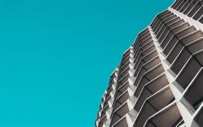 Architecture Facade Minimalism Building 4k Background Sky