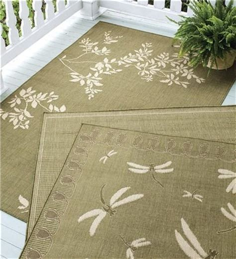 meadow rug adds softness and style to your porch or