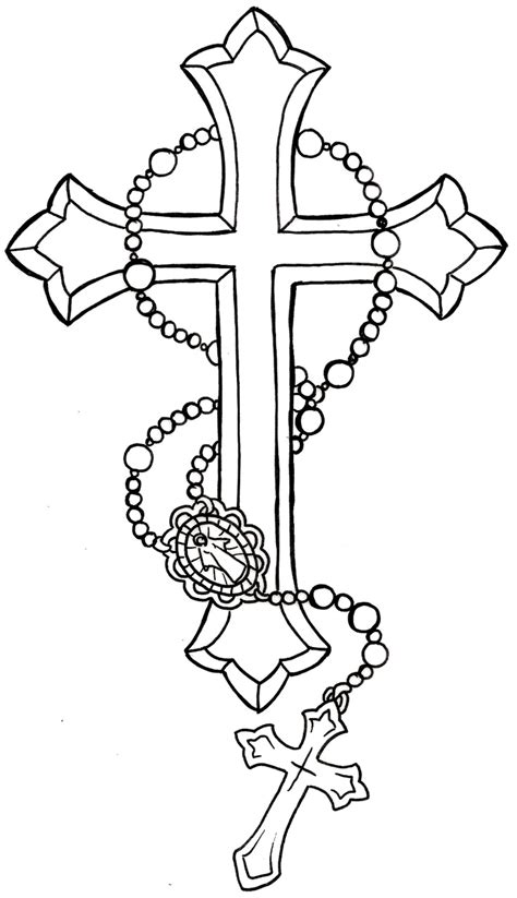 big bead rosary coloring pages coloring pages