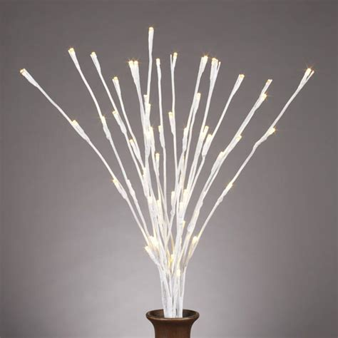 gerson 36863 20 quot white wrapped lighted 60led 3 branch