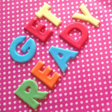 fondant edible letters numbers cm cupcakes cakes