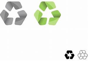 Vector de símbolo para el símbolo de reciclaje