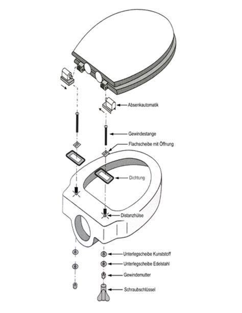 design wc sitz deckel klobrille bd 19 mit absenkautomatik neu ovp