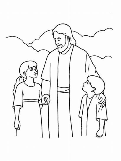 Christ Lds Clipart Jesus Children Drawing Primary