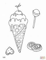 Ice Coloring Cream Lollipops Printable Sheets Sandwich Cone Template Supercoloring Sheet Categories sketch template