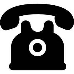 design telefone telefone de design preto do vintage ícones gratuitos