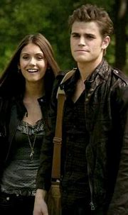 Elena and Stefan | Leather jacket, Vampire diaries, Best ...