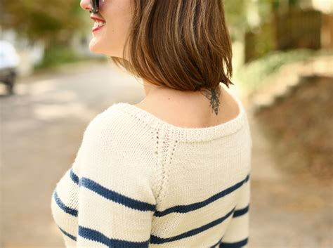 Hand Knit Striped Sweater On What I Wore