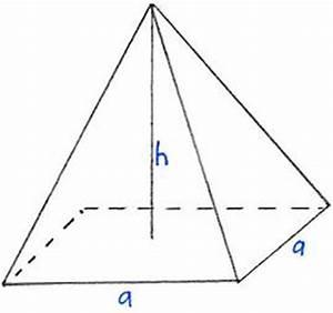 Höhe Von Pyramide Berechnen : pyramide volumen ~ Themetempest.com Abrechnung