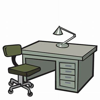Office Desk Clipart Chairs Furniture Supplies Clipartmag