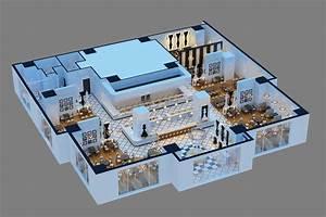 3D Models Chess Restaurant 3D Model MAX - CGTrader.com
