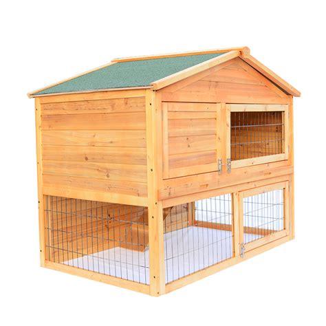 portable rabbit hutch 45 quot l 30 quot w portable rabbit hutch wooden hen chicken coop