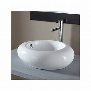 Vasque à Poser Design : vasque a poser galet vasques porcelaine blanche sur ~ Edinachiropracticcenter.com Idées de Décoration