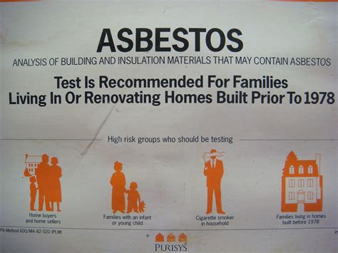 home asbestos test kit label close  flickr