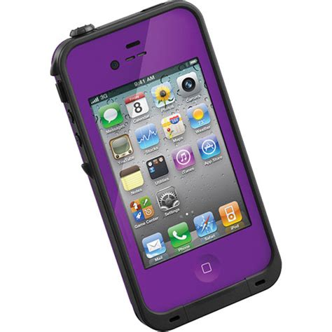 iphone 4s cases lifeproof lifeproof for iphone 4 4s purple 1001 04 b h photo