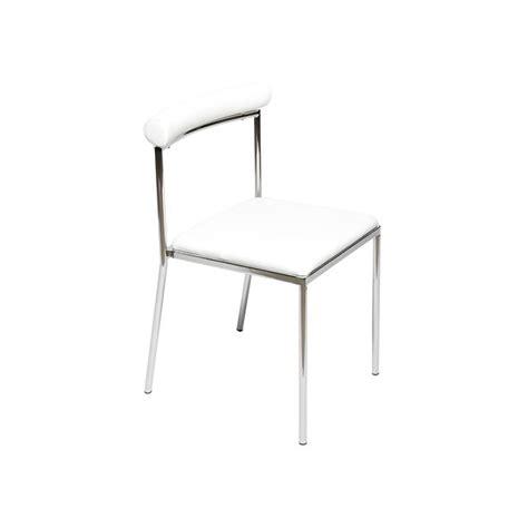 chaise de cuisine moderne lot de 4 chaises de cuisine moderne blanche léva achat vente chaise cdiscount