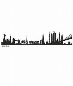 ImposingArtWork World Skyline Silhouette Wall Decals