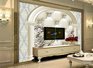 3d wallpaper European diamond background wall painting ...