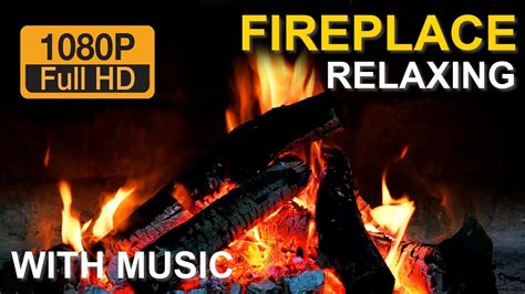 burning fireplace with crackling sound