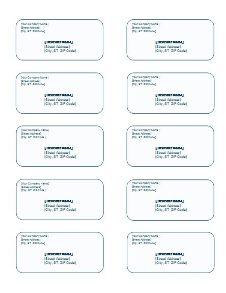 address label templates word templates
