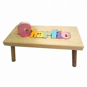 Idée Cadeau 1 An : petit banc personnalis en bois pastel marchepied tabouret fait au qu bec chaise fille ~ Teatrodelosmanantiales.com Idées de Décoration