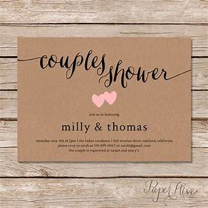 rustic couples shower invitation kraft couples wedding With couples wedding showers