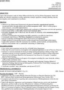 resume of a cop 10 for officer resumes writing resume sle writing resume sle