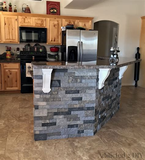 kitchen rock island before and after diy kitchen island makeover addicted 2 diy