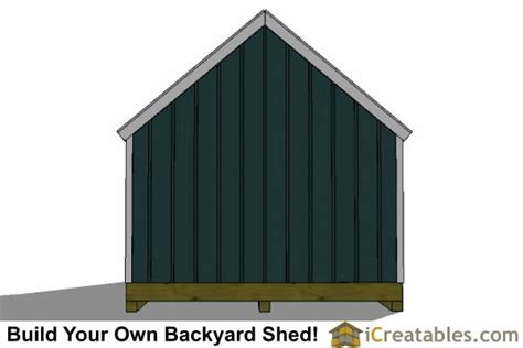 12x20 Storage Shed Plans by Ham 6 X 10 Shed Plans On Skid Steer