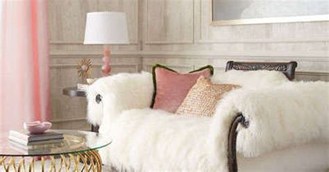 fluffy sheepskin white couch   hickory tannery