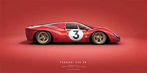 Here my colors on the great stefano landini lineart, for the last ferrari formula1 gp of china!!!! Ferrari 330 P4 Side Monza 1967 Digital Art by Joern Schmidt