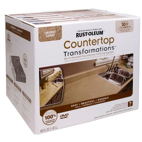 rustoleum countertop paint photos rust oleum transformations 48 oz desert sand small