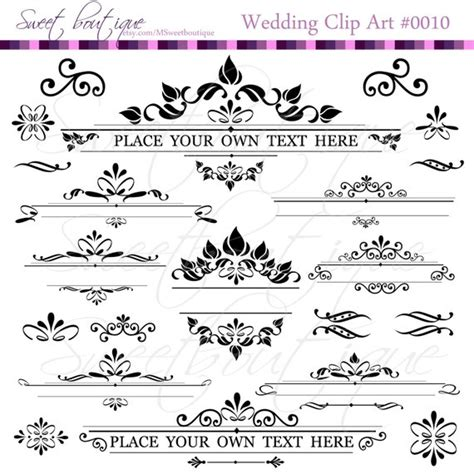 Font Decoration Text Dividers Digital Clipart Decoration Ornate Set