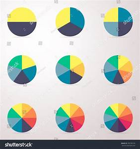 Simple Business Flat Pie Chart Graph Stock Vector