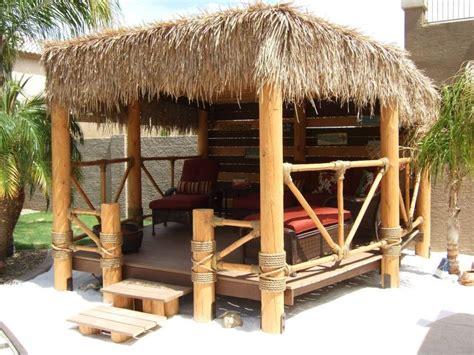Small Tiki Hut by Our Own Hut Palapa My Backyard Paradise