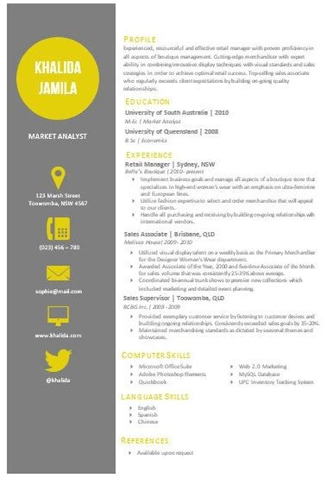 Word Resume Templates Modern by Modern Resume Template Jvwithmenow