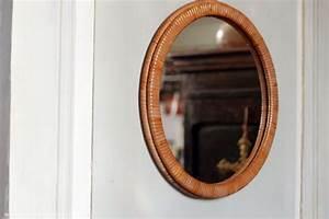 Petit Miroir Rond : petit miroir rond en osier r ve de brocante ~ Teatrodelosmanantiales.com Idées de Décoration