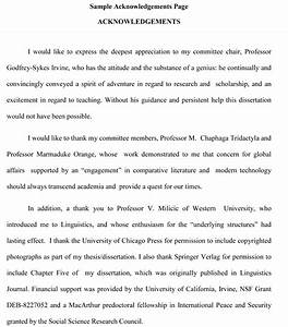 Thesis acknowledgement writing help thesis sample for Acknowledgement dissertation template