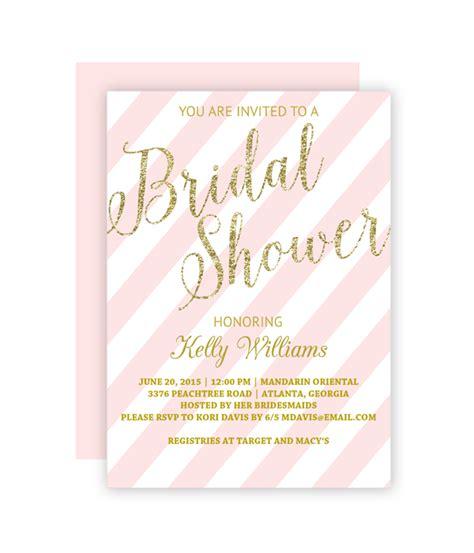 Free Printable Bridal Shower Invitations - glitter and blush bridal shower invitation chicfetti