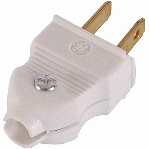 Ge 15 Amp Quick Wire Plug  White  2-pack -54267