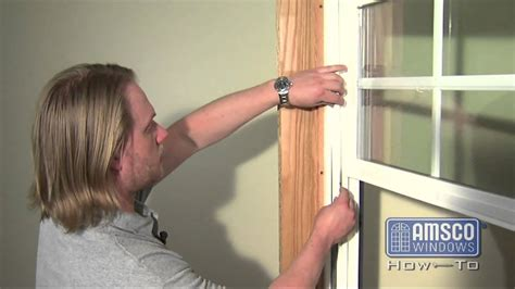 double hung window balance spring replacement youtube