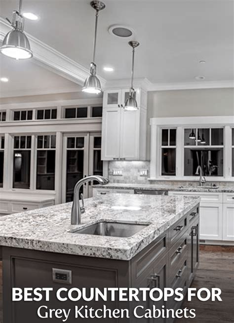 perfect countertops  grey cabinets builders surplus