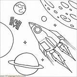 Satellite Coloring Drawing Space Spaceship Shuttle Printable Getdrawings Colorir sketch template