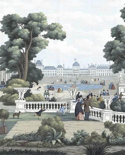 Paris Scenic Historic Buildings Paulmontgomery Murals Landscape