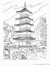 Pagoda Coloring Buddhist Japan Japanese Drawing Pages Temple Sightseeing Coloringpages101 Tattoo Architecture Printable Chinese Drawings Temples Shrine Colouring Castle Tattoos sketch template