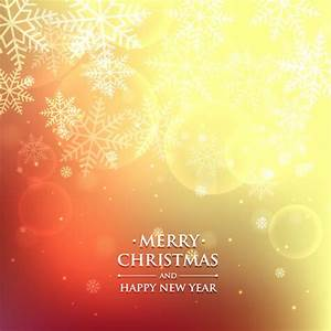 Bokeh and warm christmas background Vector