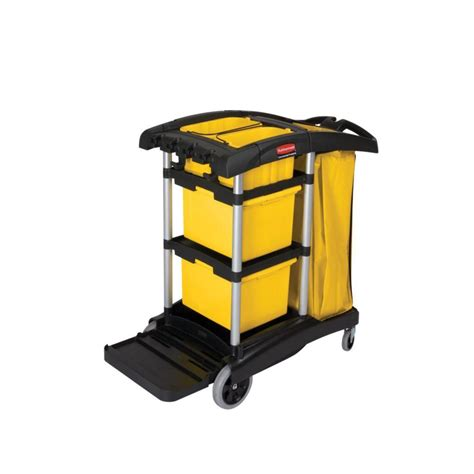 rubbermaid commercial products hygen janitorial cart