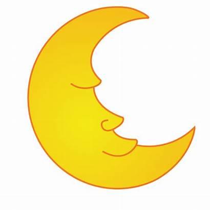 Moon Clip Cartoon Clipart Cliparts Half Sleeping